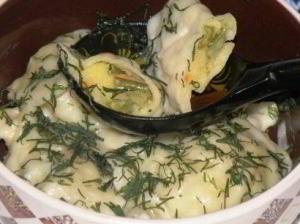 Вареники с картофелем и овощами