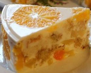 Желейный торт фруктовый