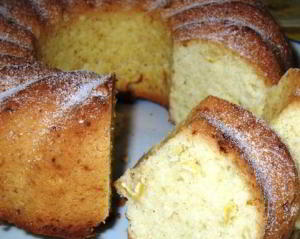 Кекс лимонный на растительном масле