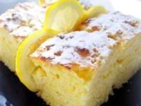 Легкие лимонные пирожные