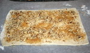 Печенье Ушки из слоеного теста 2
