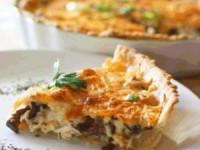 Пирог Курино-грибной жульен