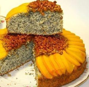 Пирог с маком и семечками