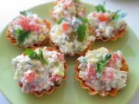 Салат из слабосолёной семги