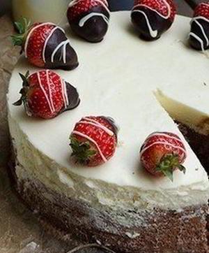 Торт-мусс из 3 видов шоколада