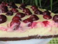 Торт с творогом и вишней