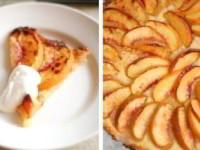 Быстрый пирог с персиками