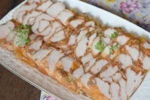 Закуска из курицы: Мраморное мясо