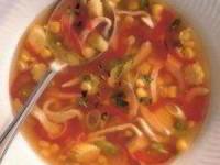 Китайский куриный суп с кукурузой