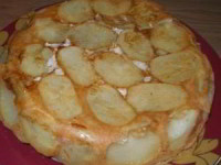 Сытный картофельный пирог с курицей