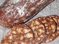 Шоколадная колбаска напоминающая детство