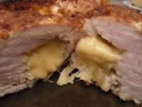 Куриное филе фаршированное ананасами и сыром