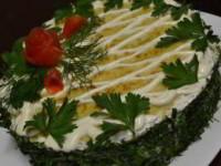 Торт закусочный кабачковый
