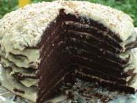 """Шоколадный торт на кефире """"Ноченька"""""""