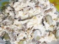 """Салат """"Максим"""" с курицей и грибами"""