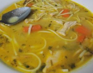 Вермишелевый суп с копчеными крылышками