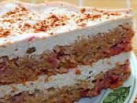 Диетический творожно-овсяно-клубничный тортик