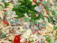 Очень вкусный салат с мясом