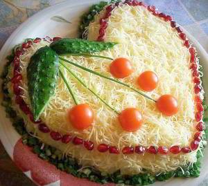 рецепт Салат из курицы с сыром