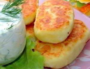 рецепт Картофельные оладьи с сыром