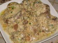 рецепт Куриная печень в орехово-чесночном соусе