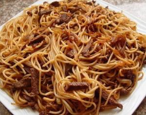 рецепт Макароны тушеные с добавками
