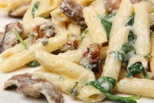 рецепт Паста с грибами и курицей