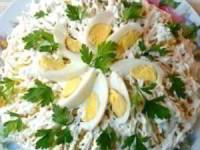 рецепт Салат «Невеста» с копченой курицей