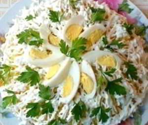 рецепт салат невеста с копченой рыбой