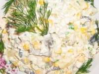 рецепт Салат Каприз из вареной курицы