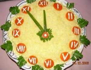 """рецепт Салат """"Новогодние часы"""""""
