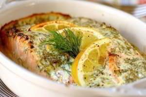 рецепт Семга под лимонным соусом