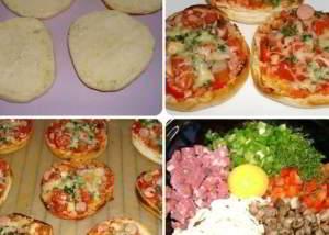 рецепт Супер-быстрые булочки-пиццы за 15 минут