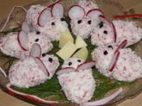 рецепт салата из крабовых палочек Мышки