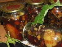 Жаренные перцы с баклажанами - рецепт на зиму