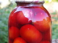 рецепт Острые помидоры со свеклой