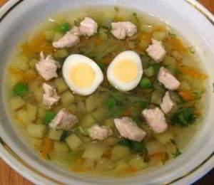 рецепт Гороховый суп с мясом