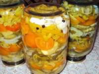 рецепт Желейный салат на зиму
