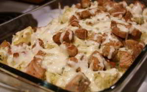 рецепт Свинина с картошкой в духовке