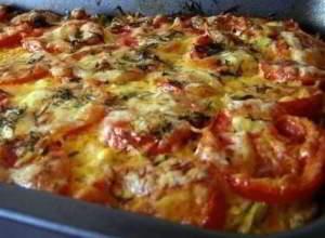 Запеканка из кабачков с фаршем и помидорами