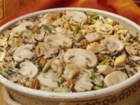 Запеканка рисовая с грибами