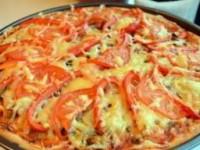 Итальянская пицца на дрожжевом тесте