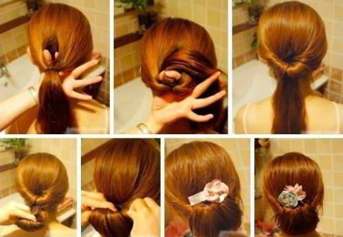 Картинки прически вечерние на средние волосы
