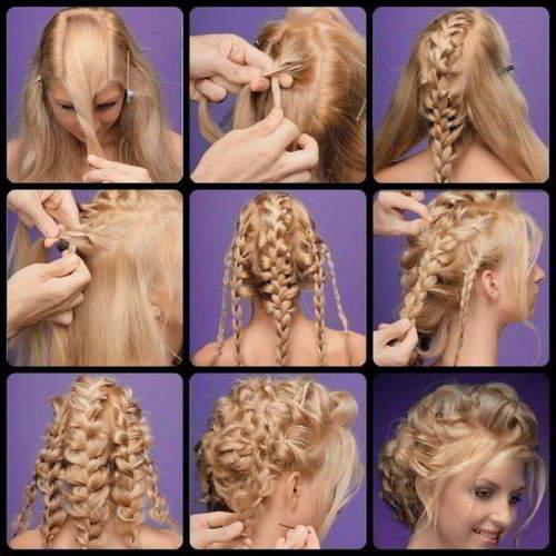 Пошаговые картинки с причёсками