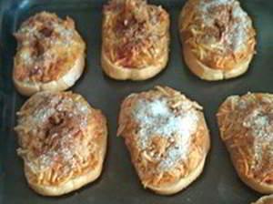 рецепт Бутерброды с яблоками