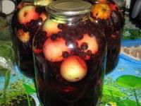 рецепт Компот с яблоками и виноградом на зиму