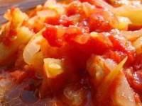 рецепт Лечо из молодых кабачков - заготовка на зиму