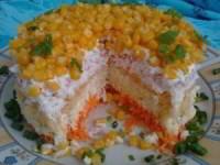 рецепт Салат Кудрявый с крабовыми палочками и кукурузой