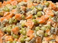 рецепт Салат с грибами и морковью