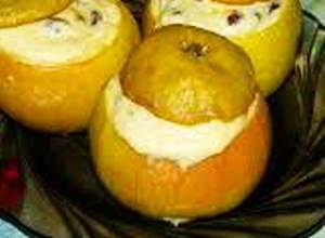 рецепт Яблоки с творожной начинкой